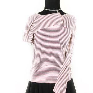 J. Crew striped long sleeve shirt w/ front pocket